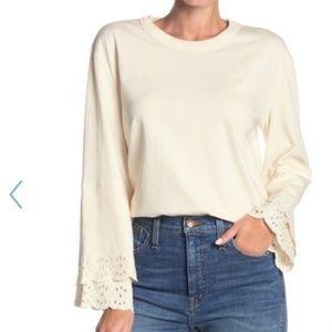 Madewell   Embroidered Long Sleeve Shirt Small